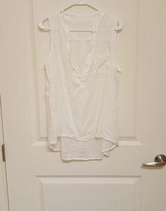 CP Shades Simone Linen Top Tunic White Linen